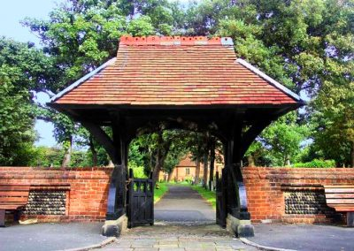 Lychgate and boundary wall, St Annes Road East, St Annes