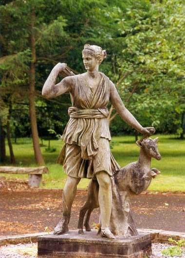 Lytham Hall Park Statue of Diana the Huntress