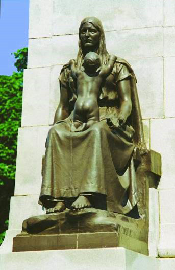 Mother and Child Statue, Ashton Gardens War Memorial, St Annes
