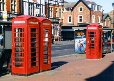 Pairs of K6 Telephone Boxes, Clifton Square