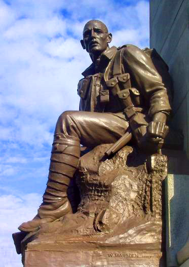 Soldier Statue, Ashton Gardens War Memorial, St Annes