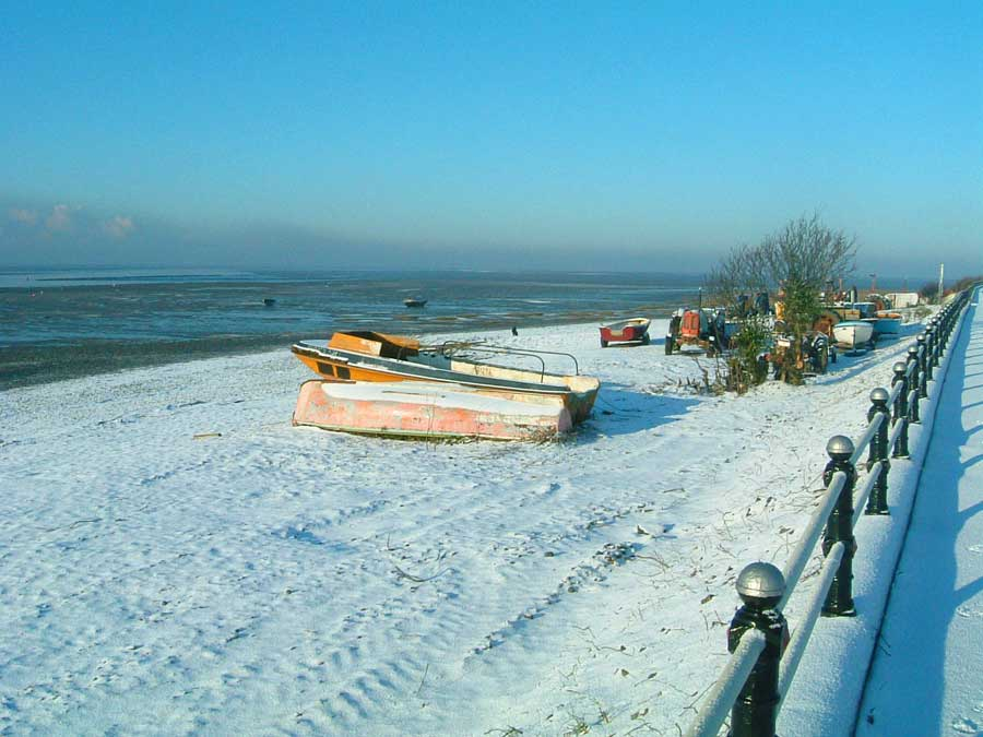 Lytham Green and Foreshore covered in snow