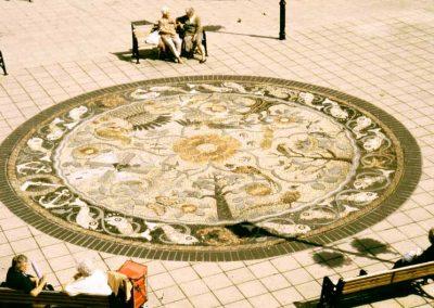 Listed Building Clifton Square Pebble Mosaic Lytham Square