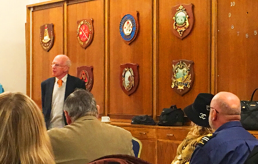 David Brewer photos of every railway station in England, guest speaker at the blue plaque unveiling